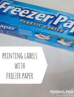 Printing on fabric can be done. This is a great option for printing your own fabric label…or pictures if you are making a memory quilt. Because fabric is so soft and snuggable, it does not go through Quilting Tips, Quilting Tutorials, Sewing Tutorials, Quilting Quotes, Quilt Labels, Fabric Labels, Fabric Crafts, Sewing Crafts, Sewing Projects
