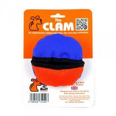 The Clam - Boll med godisficka Blå/Orange i gruppen Hundleksaker / Godisgömma hos Dogmania (225001)