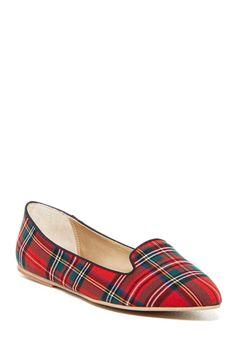 Tartan plaid loafers - $35