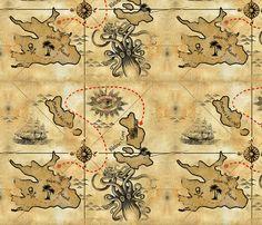 Treasure of the Pacific fabric by thecalvarium on Spoonflower - custom fabric