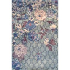 The Rug Market Maison Xanthe Gray 44516 Gray and Blue and Lilac Area... ❤ liked on Polyvore featuring home, rugs, backgrounds, wallpaper, blue area rugs, gray rug, blue grey area rugs, blue rug and grey rug