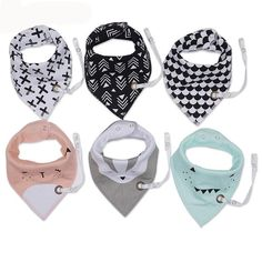 3pcs/set New Fashion Baby Bibs With Pacifier Hangers