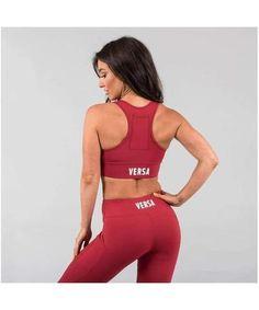 Versa Forma Motif 501 Sports Bra Crimson-Versa Forma-Gym Wear
