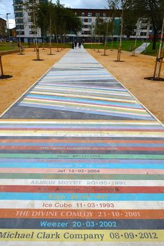 Of the blog, Project Everest. Jim Lambie pathway in Barrowlands park, Glasgow.