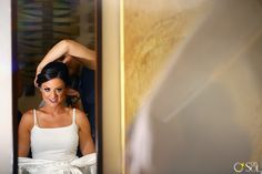 Bride before wedding photosoot, del sol photography, riviera maya wedding, makeup and hair