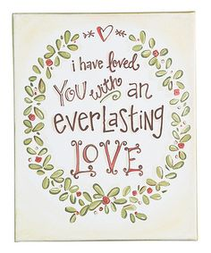 Another great find on #zulily! 'Everlasting Love' Wall Sign #zulilyfinds