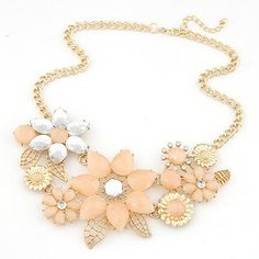 Collier Femme Statement Necklaces & Pendants Collar Mujer Colar Boho Flower Choker Fashion Necklaces for Women 2014 2015