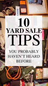 10 Yard Sale Tips You've Probably Never Heard Before - Modern Garage Sale Signs, Yard Sale Signs, For Sale Sign, Garage Sale Pricing, Garage Sale Organization, Life Organization, V Force, Yard Swing, Rummage Sale