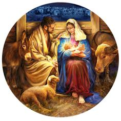 Birth Of Jesus-Nicole Brock