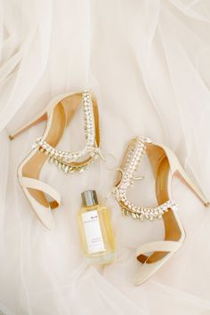Bride's Shoes: Aquazzura - http://www.stylemepretty.com/portfolio/aquazzura Photography: Anna Roussos - annaroussos.com Read More on SMP: http://www.stylemepretty.com/2016/11/07/this-greek-wedding-is-total-floral-goals/