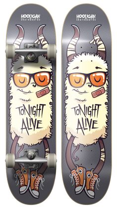 Tonight Alive - Board Design 1 by ~cronobreaker on deviantART