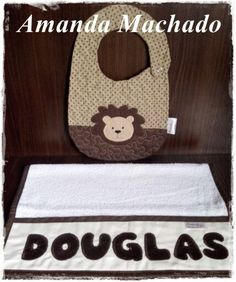 Babador e toalinha personalizados