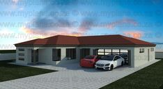 3 Bedroom House Plans - My Building Plans South Africa 4 Bedroom House Designs, 4 Bedroom House Plans, Family House Plans, Dream House Plans, My Dream Home, My Building, Building Plans, Single Storey House Plans, Single Floor House Design