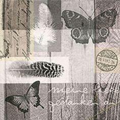 Serwetka do decoupage 2859 Papillon poesy - z motylami Tabletop, Shops, Paper Design, Scrapbooking, Tapestry, Curtains, Home Decor, Paper Napkins, Feathers