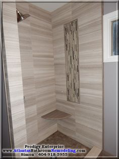 Modern Marble Shower in Midtown Atlanta
