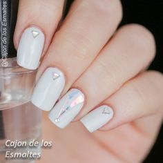 Uñas de vidrio roto (glass nails)