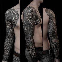 mandala sleeve tattoo for men - Google Search