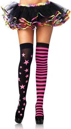 d0ef0b7be Adult Women Stars And Stripes Thigh Highs Hosiery Stars Women Adult Clown  Costume