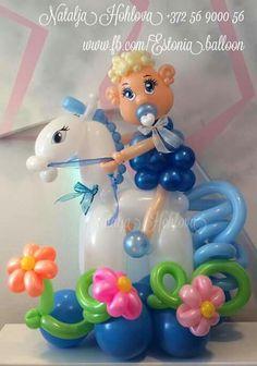 Baby Ballons, Clown Balloons, Baby Shower Balloons, Baby Shower Parties, Baby Shower Themes, Ballon Decorations, Balloon Centerpieces, Ballon Animals, Balloon Face