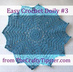 The 12 point doily pattern is another in my series of easy crochet doily patterns. It uses only 3 stitches and requires only minimal counting.