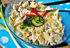 Tésztasaláta Judit konyhájából | NOSALTY Penne, No Cook Meals, Pasta Salad, Cabbage, Vegetables, Cooking, Ethnic Recipes, Food, Crab Pasta Salad