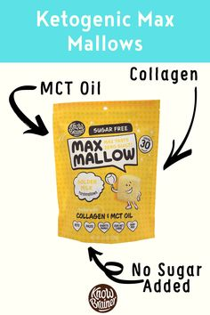 These keto marshmallows (Max Mallow) collogen, Non-GMO MCT oil, and zero sugar. Its keto because it is low carb/high fat. Made with healthy fats so you can use it as fat fuel. Brain Boosting Foods, Grass Fed Ghee, Mint Extract, Collagen Protein, Organic Chocolate, Golden Milk, Coffee Tasting, Mct Oil, Diabetic Friendly