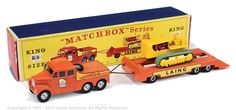 Matchbox Kingsize K8 Scammell 6 x 6 Ballast Tractor with Low Loader Trailer and Caterpillar D9 Heavy Tractor Load
