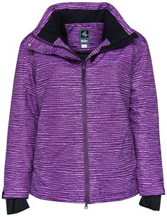 7edc9a389f Pulse womens Plus Size 1X-6X insulated snow skiing jacket. Full front  zipper