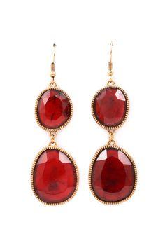 Cranberry Gabby Earrings | Emma Stine Jewelry Earrings