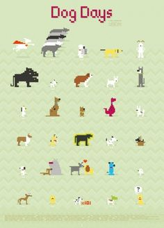 8-bit versions of famous movie and tv dogs together on a poster. :) http://bza.co/buy/150288/redesign/dog-day?utm_term=FB_Promoted #poster #8bit #dogs