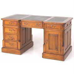 Mahogany Village Large Desk from Queenstreet Carpets & Furnishings