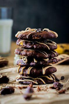 cookies veganas de cacao banana y avena