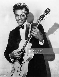 Chuck Berry was an African-American guitarist, singer, and songwriter. Berry redefined and developed R&B and Rock & Roll. He was also the first musician to be inducted into Rock & Roll Hall of Fame. The Real King of Rock & Roll. Rock Roll, Rock N, I Love Music, Good Music, Johnny B Goode, Pops Concert, Anatomy Poses, Chuck Berry, Dance Music