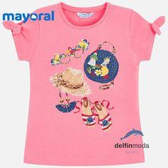 6179d0cf5 Camiseta de niña MAYORAL accesorios moda blanca Moda Blanca