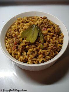 Macaroni (Dutch Macaroni) ~ Italian spaghetti seasonings can be used if Dutch macaroni seasonings are not available. Kids love this dish!