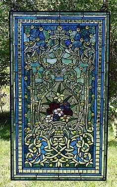 Refreshing Garden Stained Glass Window