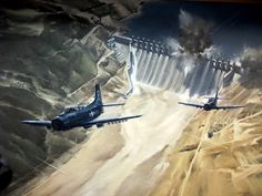 Aviation art on display at the Pensacola museum.