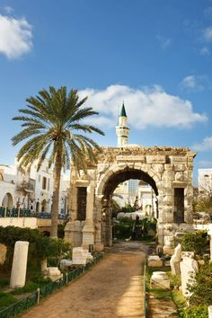 The Arch of Marcus Aurelius in Libya - have visited several times and stayed at charming El Khan Hotel nearby