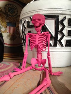 Pink skeleton for Halloween