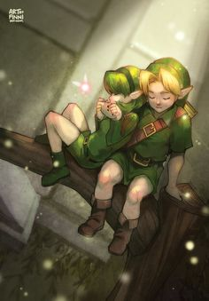 Sarina and Link <3 One Last Song by finni.deviantart.com on @deviantART #zelda