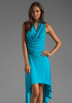 TRINA TURK Must Have Jersey Hi-Low Raissa Dress in Biscayne Blue