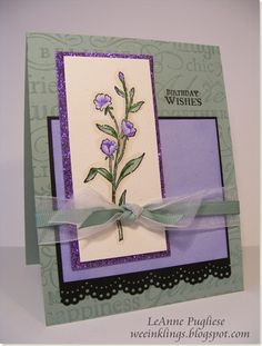 Birthday wishes in sage and purple Birthday Wishes, Birthday Cards, Happy Birthday, Card Making, Anniversary, Challenges, Gift Wrapping, Purple, Frame
