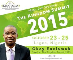 Meet The Speaker: Okey Enelamah is the founder and CEO of African Capital Alliance (ACA), a leading private equity firm. He is an MBA from Harvard Business School, a Chartered Financial Analyst and a board member of the African Private Equity & Venture Capital Association. He will share his experience and wisdom at The Kingdom Summit 2015.    Do not miss this opportunity to listen & learn.  SHARE this with your friends and family.   www.thekingdomsummit.net  #tks15 #speakers