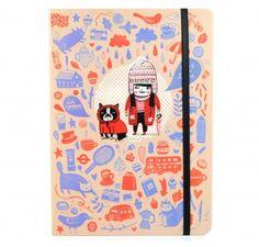 Cuaderno de viaje cosido pocket Londres  Por: Gemma Correll