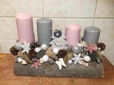 Christmas Advent Wreath, Christmas Table Decorations, Merry Christmas, Xmas, Holiday Decor, Christmas Flower Arrangements, Garland, Rustic, Crafts