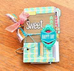 Sweet Happy Day Mini Album ~Websters Pages~ - Scrapbook.com