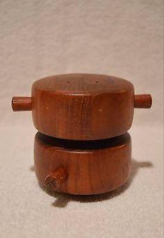 midcentury dansk denmark teak wood pepper mill salt shaker quistgaard peugeot