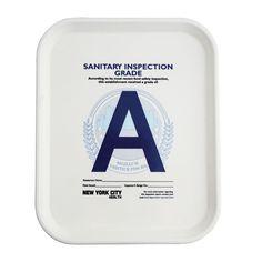 "I love trays. I love type. I love sanitary inspections. Is there any reason I wouldn't love this Health Grade ""A"" Tray?"