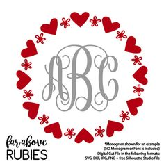 Happy Valentine S Day Monogram Wreath Arrows Hearts Monogram Not