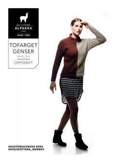 DSA36-11 Tofarget genser – Du Store Alpakka